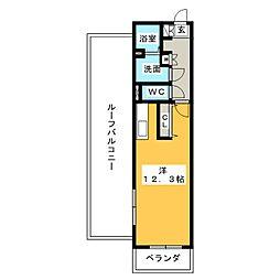 キャッスル常滑 西棟[6階]の間取り