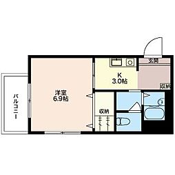 B's HOUSE[3階]の間取り
