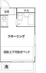 東京都北区田端6丁目の賃貸マンションの間取り