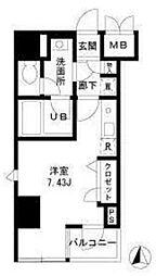 モンパレ入谷[2階]の間取り