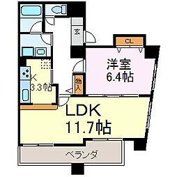 ラッフル千代田[5階]の間取り