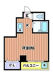 立川 弐拾壱番館[3階]の間取り