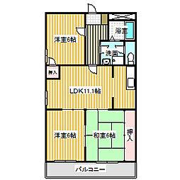 愛知県名古屋市中川区東起町3丁目の賃貸マンションの間取り