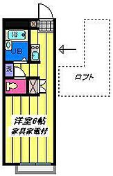 埼玉県さいたま市岩槻区太田3丁目の賃貸アパートの間取り