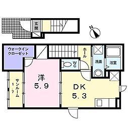 メゾン・ド・ヒロ[2階]の間取り