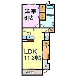 ラゲットペルラ[1階]の間取り