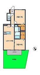 (仮)D−room八ヶ崎[1階]の間取り