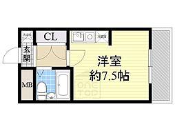 LiAnge東三国[4階]の間取り