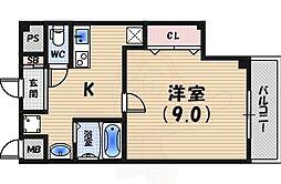 阪急甲陽線 甲陽園駅 徒歩20分の賃貸アパート 2階1Kの間取り