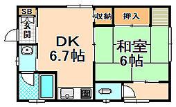 [一戸建] 兵庫県伊丹市藤ノ木3丁目 の賃貸【/】の間取り