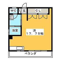 つるべマンション[5階]の間取り