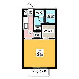 ビジュー[2階]の間取り