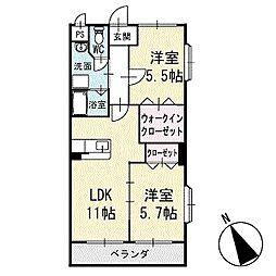 アビタシオンA 2階[201号室]の間取り