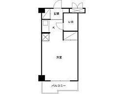 大井鹿島谷ハイツ[3階]の間取り