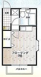 千葉県船橋市松が丘3丁目の賃貸アパートの間取り