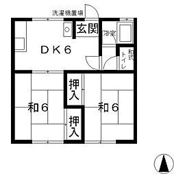 秋田マンション[2F号室号室]の間取り