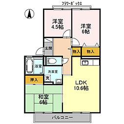 グレースB棟[2階]の間取り
