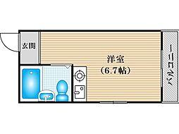 JPアパートメント住吉III[3階]の間取り