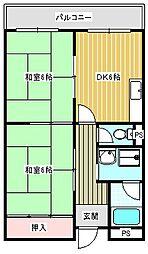 パークサイド御崎[305号室]の間取り