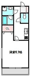 大阪府守口市長池町の賃貸アパートの間取り