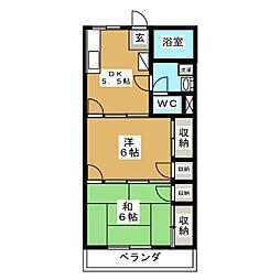 サングリーン樹里[2階]の間取り
