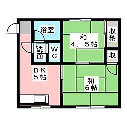 長谷川アパート[2階]の間取り