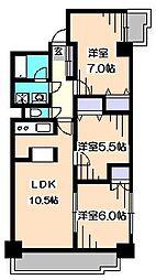 東京都練馬区南大泉1丁目の賃貸マンションの間取り