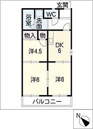 リバーサイド本郷[1階]の間取り