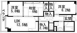 レジデンス岸和田[406号室]の間取り