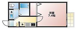ラ・プリマベーラ霞ヶ関II[2階]の間取り