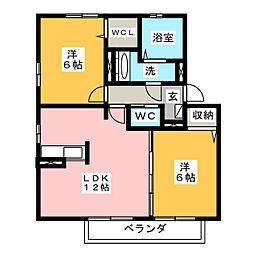 サンハイツ葵[2階]の間取り