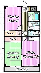 シンエイマンション[3階]の間取り
