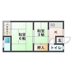 奥村文化[1階]の間取り