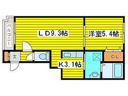 北海道札幌市東区北十五条東14丁目の賃貸マンションの間取り