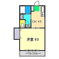 セントファーム II[1階]の間取り
