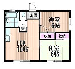 パークアベニュー中浦和[1階]の間取り