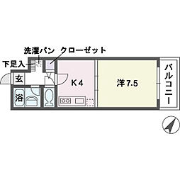 ルアディッソ福岡[5階]の間取り