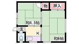 春日野道駅 2.5万円