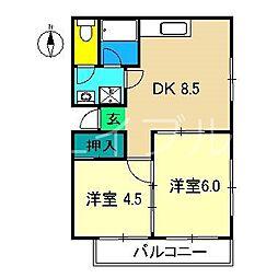 メゾン内藤[4階]の間取り