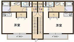 J-朝日ハウス 2階ワンルームの間取り