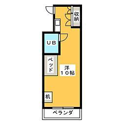 ヒルトップ松城[1階]の間取り