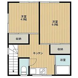 山本アパート[E号室]の間取り