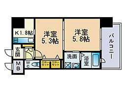 エンクレストネオ博多駅南[10階]の間取り