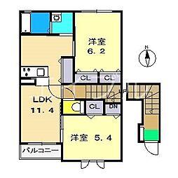 (仮称)シャーメゾン一宮東町[2階]の間取り