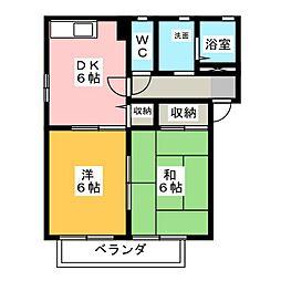 シャーメゾン姫島ニ番館[2階]の間取り