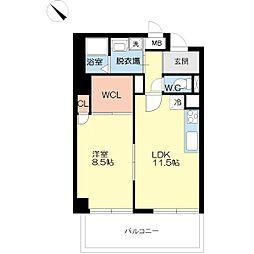富士プラザ5[7階]の間取り