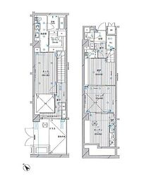 都営浅草線 泉岳寺駅 徒歩3分の賃貸マンション 1階1SLDKの間取り