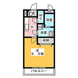 メゾンモンマルトル2[2階]の間取り