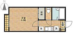 HOUSE CASSIII[202号室]の間取り