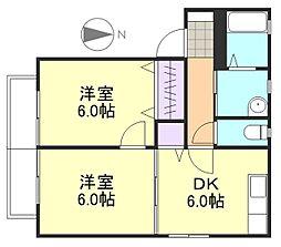 メゾンさくらB棟[1階]の間取り